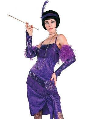 Fabulous Flapper Women's Purple 1920's Costume