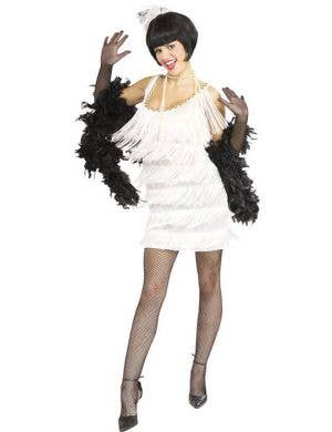 Broadway Babe Women's White Flapper 1920s Costume
