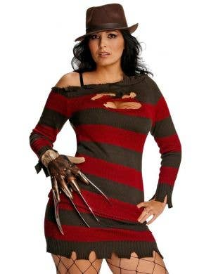 Freddy Kruger Women's Plus Size Halloween Costume