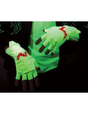 Franken Raver Glowing Halloween Gloves