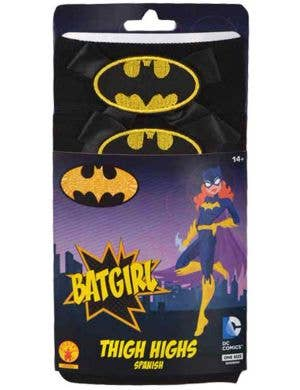 DC Comics Women's Batgirl Black Opaque Thigh High Stockings