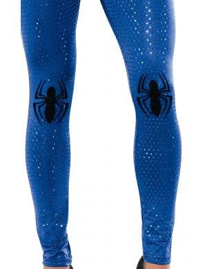 Sequined Blue Spider-Girl Costume Leggings