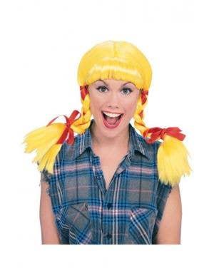 Country Girl Women's Yellow Costume Wig