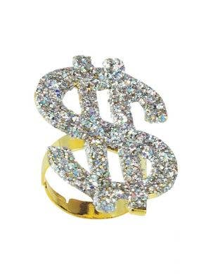 Big Daddy Novelty Silver Dollar Sign Costume Ring