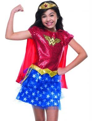Wonder Woman Girls Sequined Tutu Costume