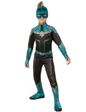 Captain Marvel Girls Kree Superhero Fancy Dress Costume
