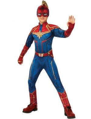 Captain Marvel Girls Superhero Fancy Dress Costume