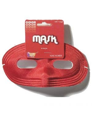 Basic Red Adult's Superhero Eye Mask Costume Accessory