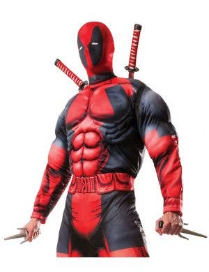 Deadpool Deluxe Muscle Chest Men's Costume