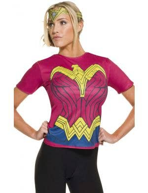 Wonder Woman Adult Costume T-shirt With Headpiece