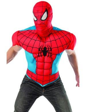 Spiderman Men's Costume Muscle Shirt and Mask Set