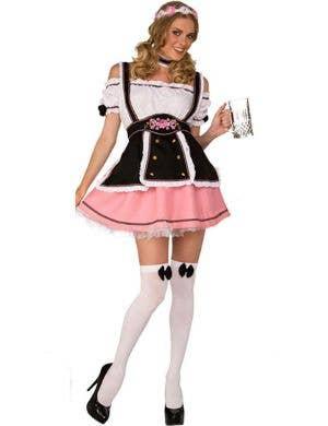 Fraulein Beer Babe Womens Sexy Pink Oktoberfest Costume