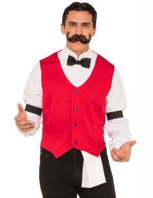 Wild West Bartender Men's Fancy Dress Costume