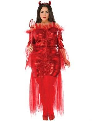 Daringly Devilish Women's Plus Size Halloween Costume