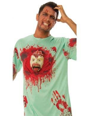 Blood Splattered Patient Men's Halloween Costume