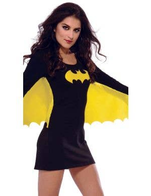 Batgirl Women's Black Superhero Fancy Dress Costume