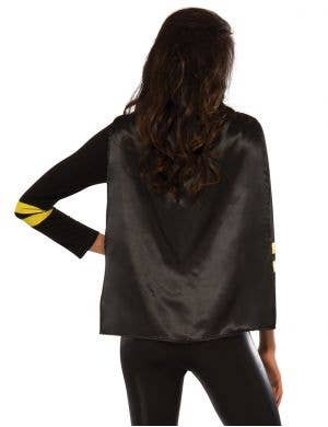 Batgirl Women's Costume T-Shirt with Cape