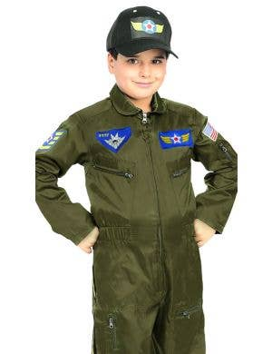 Air Force Fighter Pilot Boys Fancy Dress Costume