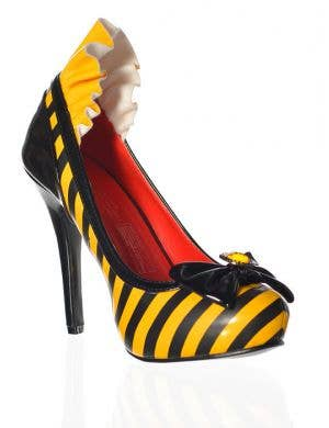 Striped Yellow Bumblebee High Heel Shoes