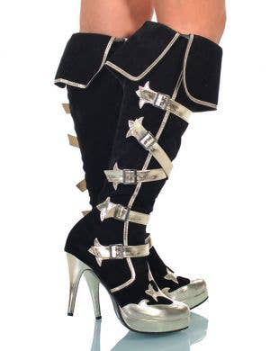 Elegant High Heel Pirate Boots