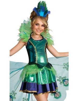 Pretty Peacock Girls Book Week Animal Costume