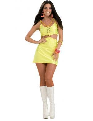 Holly-Go-Brightly Yellow Womens 60s Groovy Chick Costume