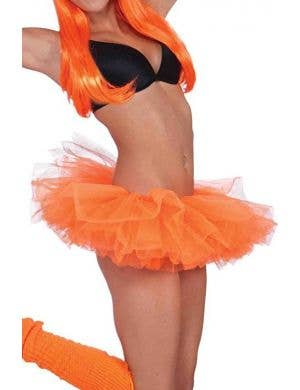 Neon Orange Women's 1980's Costume Tutu