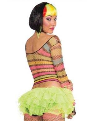 Club Candy Rainbow Rave Women's Fishnet Top
