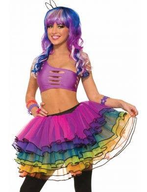 Sugar Vibe Women's Sparkling Rainbow Costume Tutu