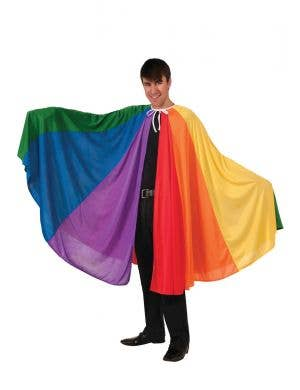 Rainbow Striped Adult's Costume Cape