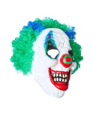 Midnight Creatures Crazy Clown Green Mens Mask
