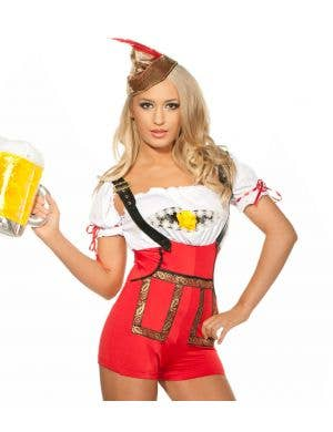 Bavarian Girl Lederhosen Women's Sexy Oktoberfest Costume