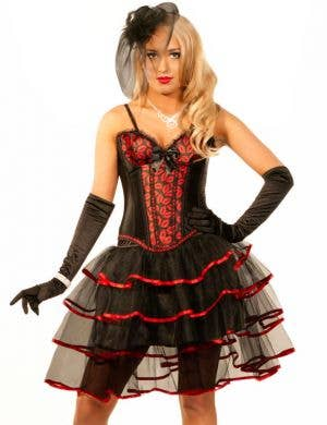 Burlesque Kisses Sexy Women's Corset & Skirt