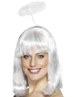 Angel White Feather Halo Costume Accessory