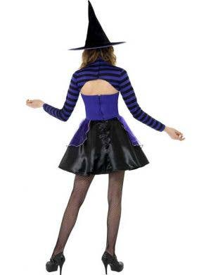 Dark Stripe Witch Teen Girls Costume