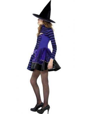 Dark Stripe Witch Teen Girls Costume