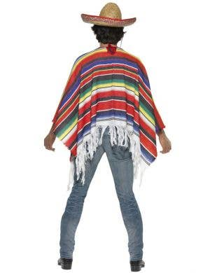 Mexican Poncho Men's Fancy Dress  Costume