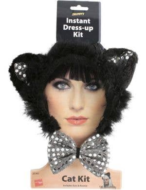 Sequin Black Cat Costume Accessory Kit
