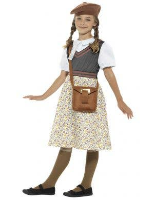 WW2 Evacuee School Girl 1940's Kid's Costume