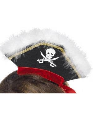 Mock Pirate Mini Hat on Headband Costume Accessory