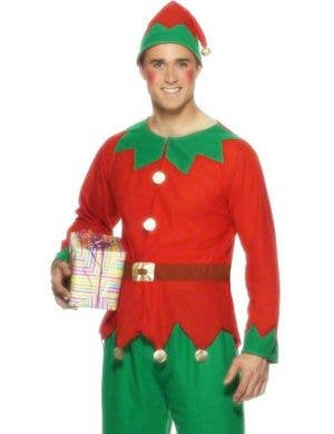 Festive Men's Budget Christmas Elf Costume