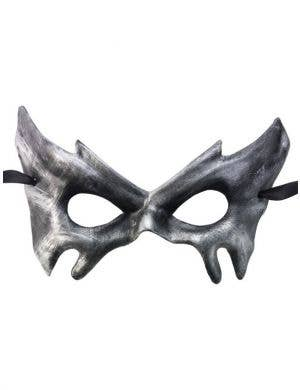 Antiqued Silver Men's Halloween Masquerade Mask
