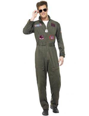 Top Gun Deluxe Men's Aviator Suit Costume