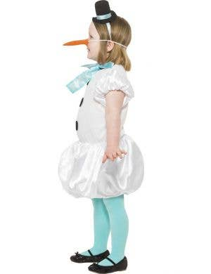 Puffball Snowgirl Children's Fancy Dress Costume