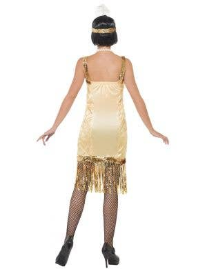 Charleston Women's 1920's Gold Gatsby Dress