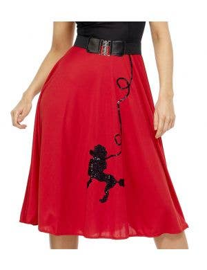 50's Women's Red Poodle Dress Costume