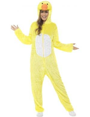 Novelty Yellow Duck Adults Jumpsuit Costume