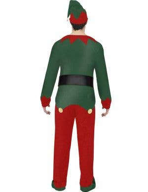 Festive Christmas Elf Men's Fancy Dress Costume
