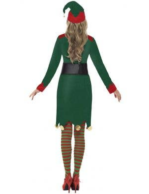 Festive Christmas Elf Women's Fancy Dress Costume