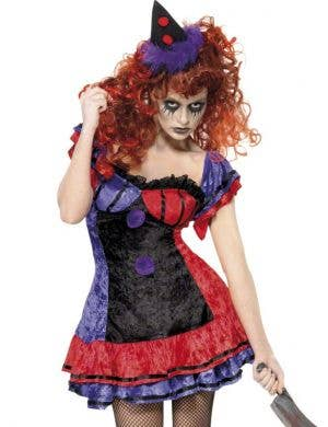 Bo Bo The Clown Women's Halloween Costume